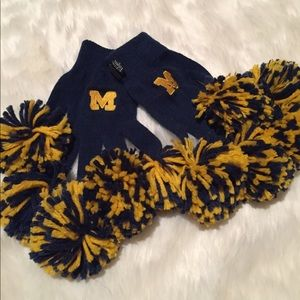 University of Michigan spirit fingerz gloves
